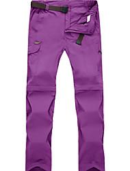 baratos -Mulheres Calças de Trilha Ao ar livre Secagem Rápida, Respirabilidade, Redutor de Suor Calças / Calças Convertíveis Exercicio Exterior /