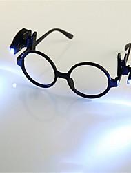 abordables -HKV 2pcs Loupes LED Night Light Blanc Froid Bouton alimenté par batterie Lisant un livre avec Clip Transport Facile Pile Tong