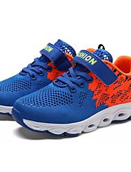 baratos -Para Meninos sapatos Tule Primavera Outono Conforto Tênis Caminhada Velcro para Atlético Preto Azul Real