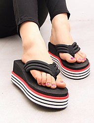 cheap -Women's Shoes EVA Summer Comfort Slippers & Flip-Flops Flat Heel Round Toe for White Black Red