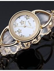 baratos -ASJ Mulheres Relógio de Pulso Japanês Relógio Casual Lega Banda Luxo / Elegante Prata / Dourada / Ouro Rose / SSUO 377