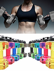 "cheap -1pcs Dumbbells Kettle Drinking Water Bottles Exercise & Fitness Gym 2.2L Personalized Creative Plastics BPA free 11"" (28 cm)"