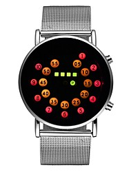baratos -Homens Relógio de Moda Japanês Noctilucente Lega Banda Brilhante Prata