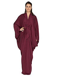 cheap -Women's Sophisticated Street chic Shift Swing Abaya Dress - Solid Colored