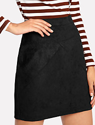 cheap -Women's Street chic Pencil Skirts - Solid Colored