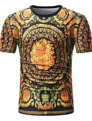 preiswerte -Herrn Punkt Gestreift Leopard - Aktiv Street Schick T-shirt