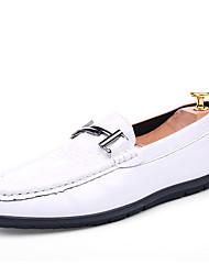 abordables -Homme Chaussures Polyuréthane Printemps Automne Confort Mocassins et Chaussons+D6148 pour Décontracté Blanc Noir Bleu