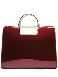 povoljno -Žene Torbe Patent Leather Tote torbica Patent-zatvarač za Kauzalni Ured i karijera Sva doba Plava Crn Red Crvena
