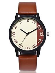 baratos -Homens Mulheres Quartzo Único Criativo relógio Chinês Relógio Casual PU Banda Casual Fashion Preta Marrom Verde Verde Escuro
