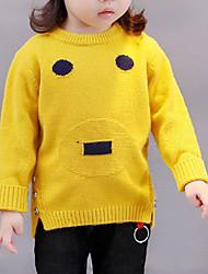 preiswerte -Mädchen Bluse Geometrisch Baumwolle Herbst Langarm Orange Grau Gelb