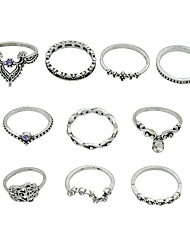 cheap -Women's Ring Set - Imitation Tourmaline, Alloy Basic, Fashion Hamsa Hand 7 Silver For Daily / Date