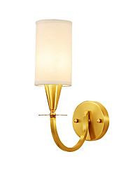 billiga -ecolight ™ taklampa med kopparram med tygskugga e26 / e27