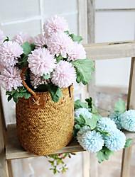 abordables -Fleurs artificielles 5 Une succursale Style moderne Chrysanthème Fleur de Table