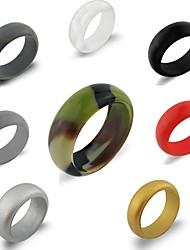 Недорогие -Силиконовые кольца / Одиночные свадебные банды С 1 pcs Стиль, идеальный, Доступный Разрабатывать, Удобный, Безопасность Для Универсальные Йога / Аэробика и фитнес / Путешествия