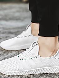 abordables -Homme Chaussures Tulle Printemps Eté Automne Confort Ballerines Course à Pied Blanc Noir Gris Rouge