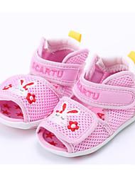 baratos -Para Meninas Para Meninos sapatos Tule Verão Primeiros Passos Conforto Sandálias para Casual Azul Rosa claro Khaki