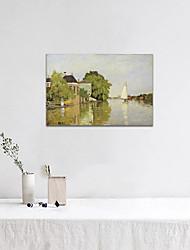 baratos -Estampado Laminado Impressão De Canvas - Famoso Paisagem Modern