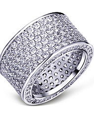 cheap -Women's Cubic Zirconia Band Ring - Silver Plated, Gold Plated European, Fashion 5 / 6 / 7 Gold / Silver For Party / Gift