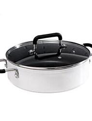 Недорогие -кухонная посуда Алюминиевый сплав Нержавеющая сталь Круглый Кастрюли и сковородки 1pcs
