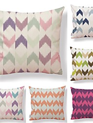 cheap -6 pcs Textile Cotton / Linen Pillow case Pillow Cover, Lines / Waves Geometric Pattern Contemporary Traditional / Vintage High Quality