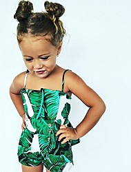 cheap -Baby Girls' Floral Sleeveless One-Pieces