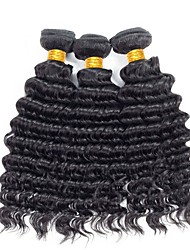 Недорогие -3 Связки Вьетнамские волосы / Крупные кудри Кудрявый / Крупные кудри Необработанные / Натуральные волосы Подарки / Удлинитель / Распродажа брендовых товаров Ткет человеческих волос