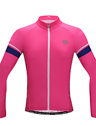 cheap -SANTIC Women's Long Sleeve Cycling Jersey with Tights - Pink Bike Breathable / YKK Zipper / Italy Imported Ink