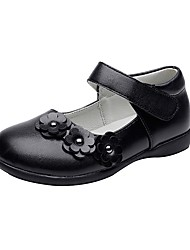 cheap -Girls' Shoes Leatherette Spring / Fall Comfort / Flower Girl Shoes Flats Flower / Hook & Loop for Black