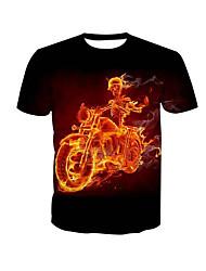 billige Herremode og tøj-Herre-Dødningehoveder Kranium T-shirt
