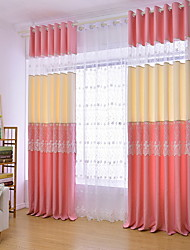 povoljno -Zavjese Zavjese Living Room Color block Pamuk / poliester Jacquard