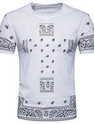 billige Herremode og tøj-Herre - Geometrisk Gade T-shirt