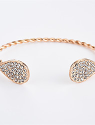 abordables -Femme Zircon Zircon Goutte 1pc Manchettes Bracelets - simple Mode Or Argent Bracelet Pour Quotidien Sortie