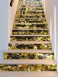 abordables -Stickers muraux Autocollants muraux décoratifs Autocollants de sol - Autocollants muraux 3D 3D A fleurs / Botanique Repositionable