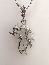 cheap -Pendant Necklace  -  Dragon Simple, Rock Silver 48 cm Necklace For Daily