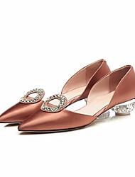 povoljno -Žene Cipele Svila Proljeće Jesen Udobne cipele Cipele na petu Heterotipski peta za Kauzalni Zlato Crn