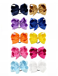cheap -Elastics & Ties Hair Accessories Grosgrain Satin Wigs Accessories Girls' 10pcs pcs 4-8inch cm Party Daily Boutique Stylish Cute For