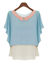 abordables -Mujer Básico Blusa Bloques