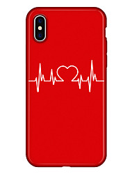 Недорогие -Кейс для Назначение Apple iPhone X / iPhone 8 Plus С узором Кейс на заднюю панель С сердцем / Мультипликация Мягкий ТПУ для iPhone XS / iPhone XR / iPhone XS Max