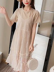 abordables -Femme Polo - Couleur Pleine Robes