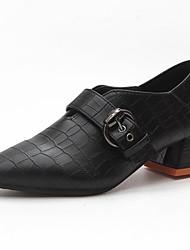 お買い得  -女性用 靴 ラバー 春 秋 コンフォートシューズ ヒール チャンキーヒール のために アウトドア ブラック Brown