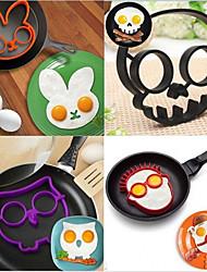 abordables -Outils de cuisine Caoutchouc silicone Ustensile de Cuisine / Créatif Poêles et poêles à frire Pour Egg 5pcs