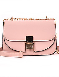 cheap -Women's Bags PU Leather Shoulder Bag Embossed Blushing Pink / Gray / Khaki