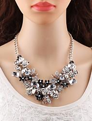 Недорогие -Длинные ожерелья Заявление ожерелья - Цветы европейский, Элегантный стиль Белый 45+8.5 cm Ожерелье Назначение Для вечеринок, Официальные
