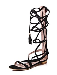 cheap -Women's Shoes Nubuck leather Spring Summer Gladiator Comfort Sandals Walking Shoes Cycling Shoes Flat Heel Open Toe Buckle for Wedding