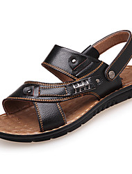 cheap -Men's Formal Shoes Cowhide Spring / Fall Comfort Sandals Black / Yellow / Brown