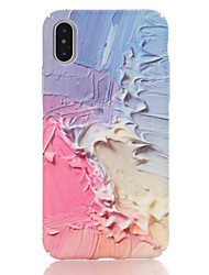 baratos -Capinha Para Apple iPhone X iPhone 8 Estampada Capa traseira Mármore Rígida PC para iPhone X iPhone 8 Plus iPhone 8 iPhone 7 Plus iPhone