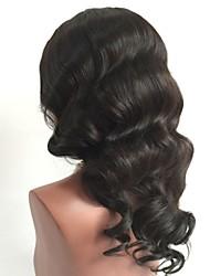 Недорогие -Необработанные Лента спереди Парик Бразильские волосы Волнистый Парик Стрижка каскад 130% Плотность волос с детскими волосами Для темнокожих женщин Черный Жен. Короткие Длинные Средняя длина