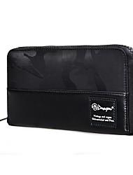 cheap -Men's Bags Nylon Wallet Embossed Floral Print Black