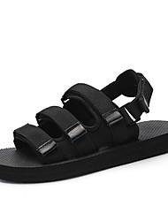 preiswerte -Herrn Schuhe Oxford Sommer Herbst Zehenring Sandalen für Normal Draussen Schwarz