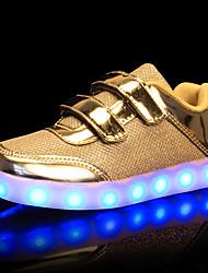 abordables -Fille Garçon Chaussures Polyuréthane Eté Automne Chaussures Lumineuses Basket LED pour Mariage Décontracté Or Argent Rose